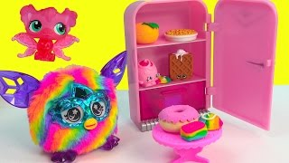 Furby Furbling Electronic Talking Toy Pet Rainbow Crystal Series Refrigerator Food Feeding Review