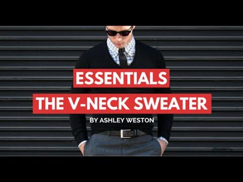 8ce9742cc2 The V-Neck Sweater - Men s Wardrobe Essentials - Gray