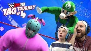 FORTNITE vs Super Mario Bros | WWE 2k19 TAG TOURNEY 4 | KIDCITY GAMING