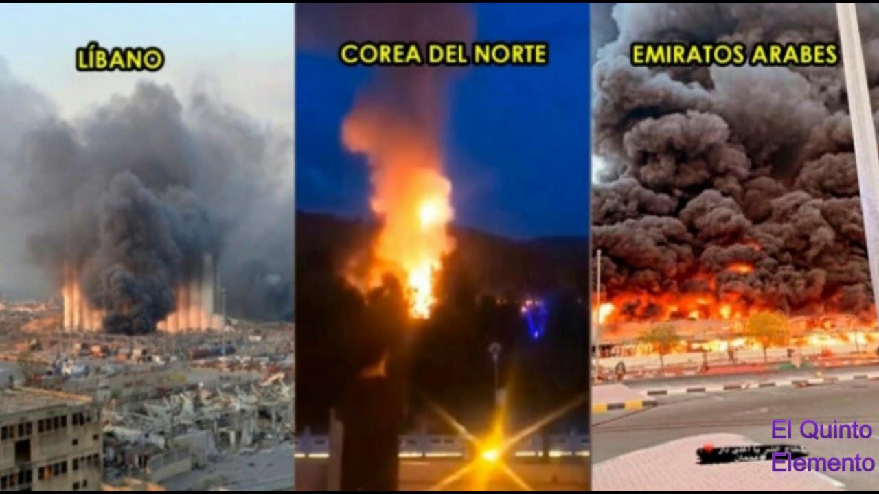 Tres Grandes ExplosIones en las ultimas horas: Beirut, Corea del Norte y Emiratos arabes.