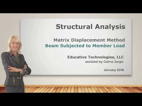 SA47: Matrix Displacement Method: Continuous Beam Subjected to Member Load
