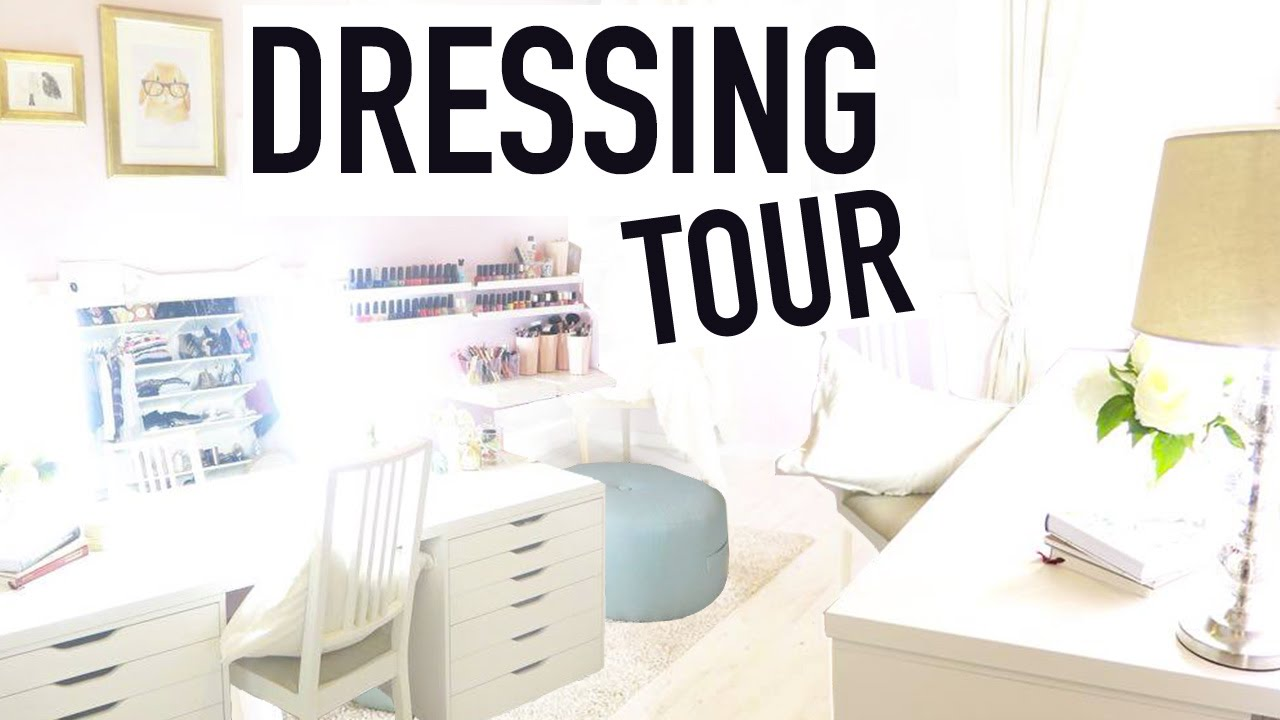 dressing tour rangement makeup astuces youtube. Black Bedroom Furniture Sets. Home Design Ideas