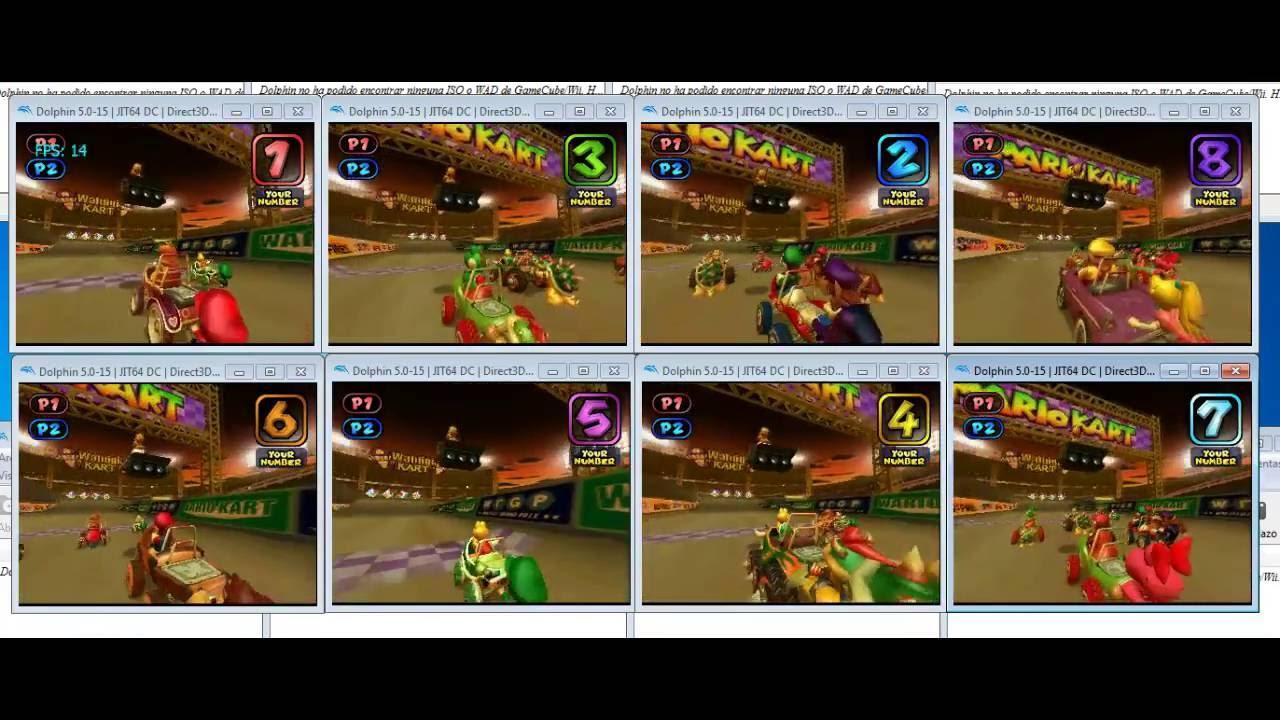 Mario Kart Double Dash! Lan Mode - 8 gamecubes // 16 players vía dolphin emu
