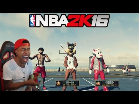 NBA 2K16| Legend 3 Mascot Trash talking!! PT.2| Funny Moments with fans @ MyPark !! - Prettyboyfredo
