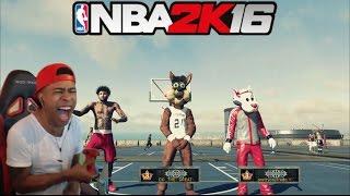 NBA 2K16| Legend 3 Mascot Trash talking!! PT.2| Funny Moments with fans @ MyPark !! - Prettyboyfredo