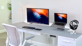 Ultimate Minimal Macbook Pro Desk Setup Tour (2019)