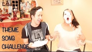 THEME SONG SHAVING CREAM CHALLENGE I DanAndRiya