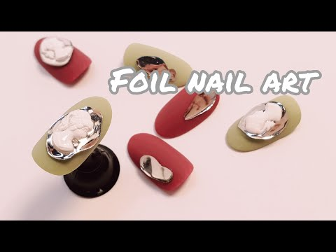 [#NOTD]  필름 네일아트/ Nail Art Foil Tutorial, film nailart, 까메오네일 thumbnail