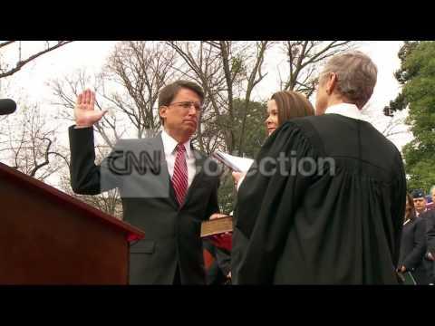 NC: GOV PAT MCCRORY INAUGURATION CEREMONY
