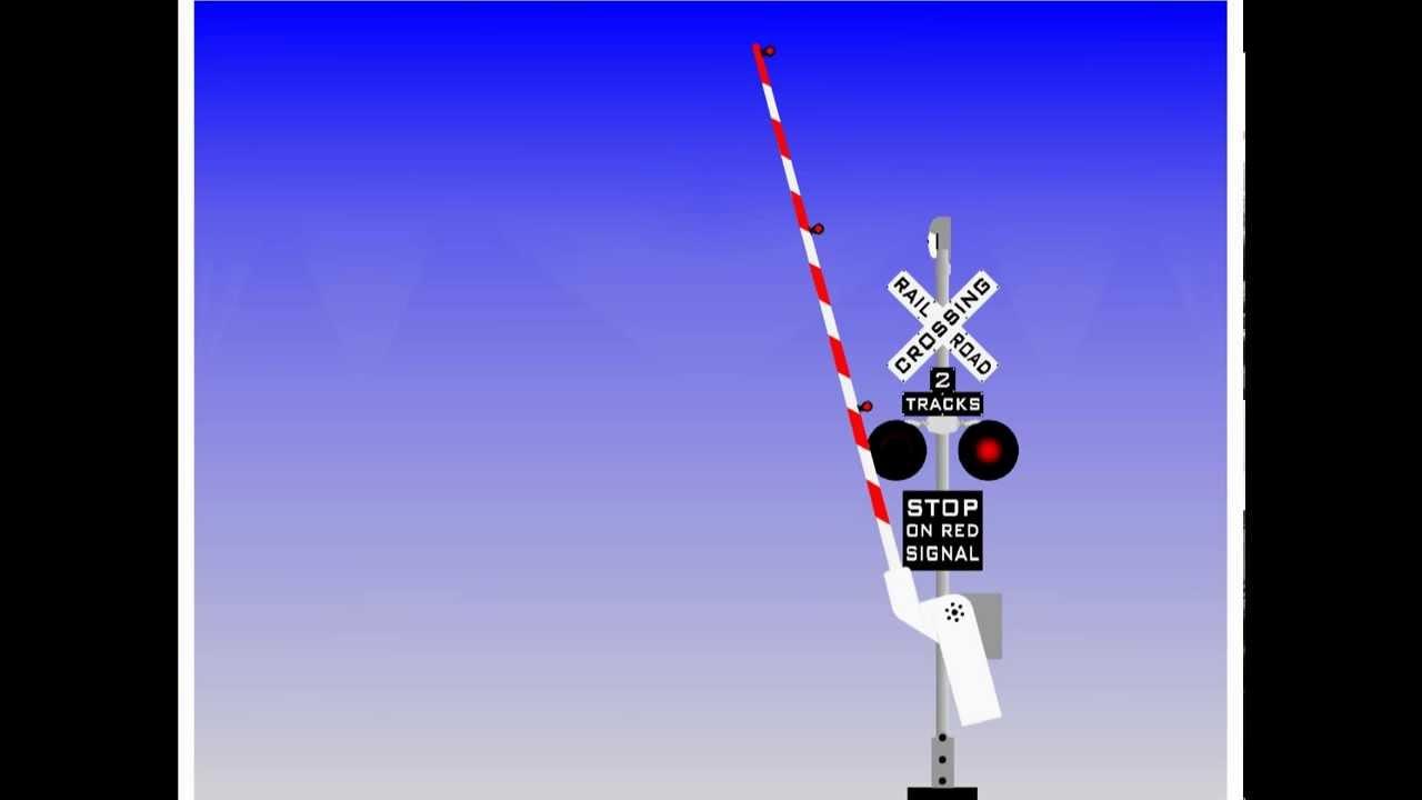 railroad crossing animation youtube
