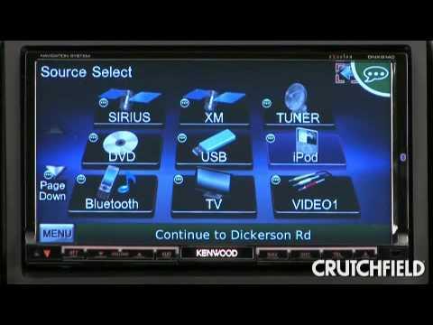 kenwood dnx9140 in dash navigation receiver demo crutchfield video rh youtube com Install Kenwood eXcelon DNX9140 Manual DNX9140 Kenwood Bluetooth Update