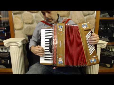 2324 - Wood Castiglione Piano Accordion LMM 30 72 $1495