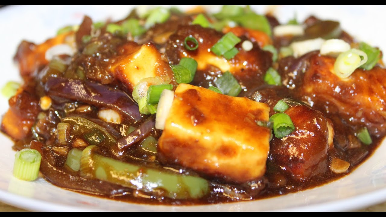 Paneer Chilli Dry Gravy Delicious Indo Chinese Cuisine By
