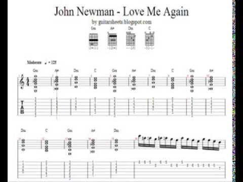 ♫ John Newman - Love Me Again ♫ Easy Guitar Lesson ♫ DOWNLOAD NOTES, TABS & CHORDS!