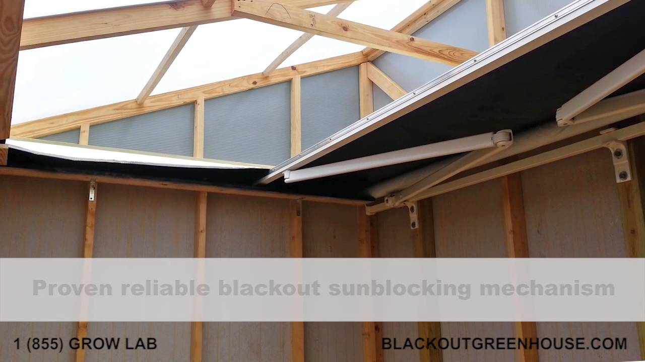 Blackout Greenhouse Growshed 365 Light Deprivation