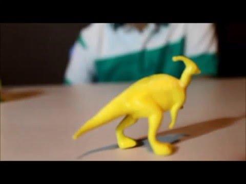 Play doh Surprise eggs Dinosaurs collection A to Z  DINOSAUR: Parasaurolophus playdough children