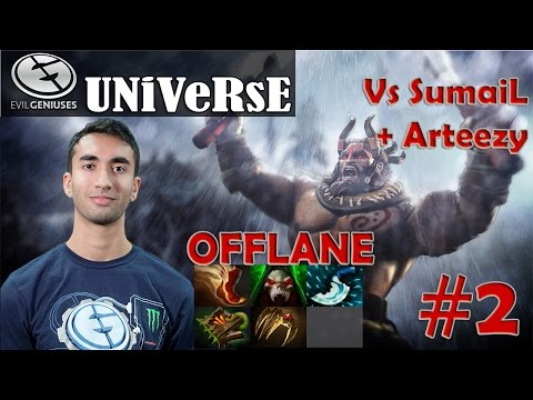 Universe - Beastmaster Offlane Pro Gameplay | vs SumaiL + Arteezy | Dota 2 MMR #2