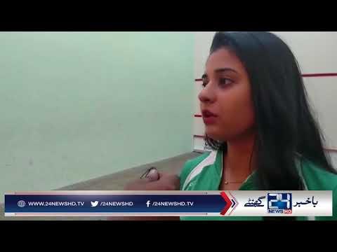 World longest hair Pakistani squash player