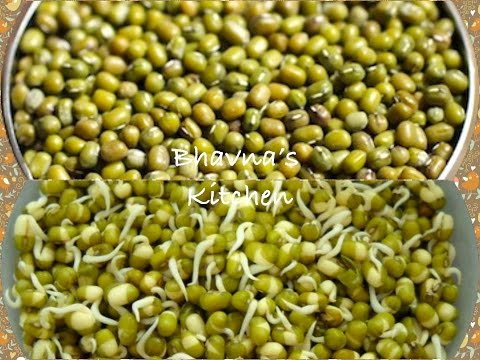 How to sprout lentil, beans or pulses- Sprouted Green Gram(Mung)