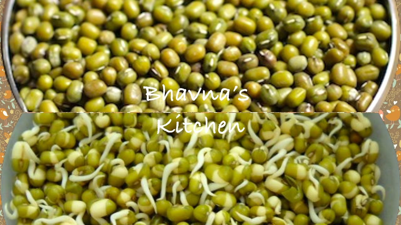 How to sprout Beans, Legumes or Pulses- Sprouted Green Gram(Mung)