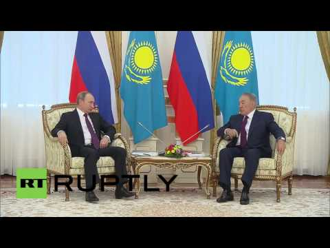 Kazakhstan: Putin meets Nazarbayev in Astana to discuss bilateral relations and trade