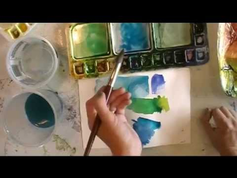 Creating Dynamic Watercolors Using Phthalo Blue