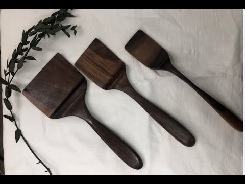 [making video], [DIY], [wood carving]  Walnut spatula 원목 뒤집개 제작 영상!!