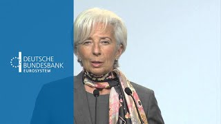 Lecture by Christine Lagarde in Frankfurt / Christine Lagarde hält Vortrag in Frankfurt