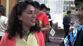 留学生向け和文化「書道」体験ワークショップ(京都市・2017年11月4日)