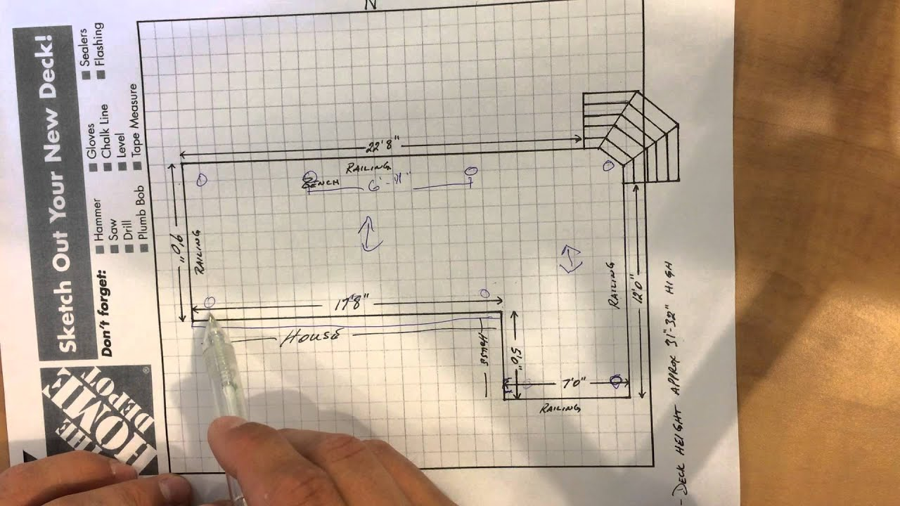 How To Design A Deck Foundation Built On Screw Piles Youtube