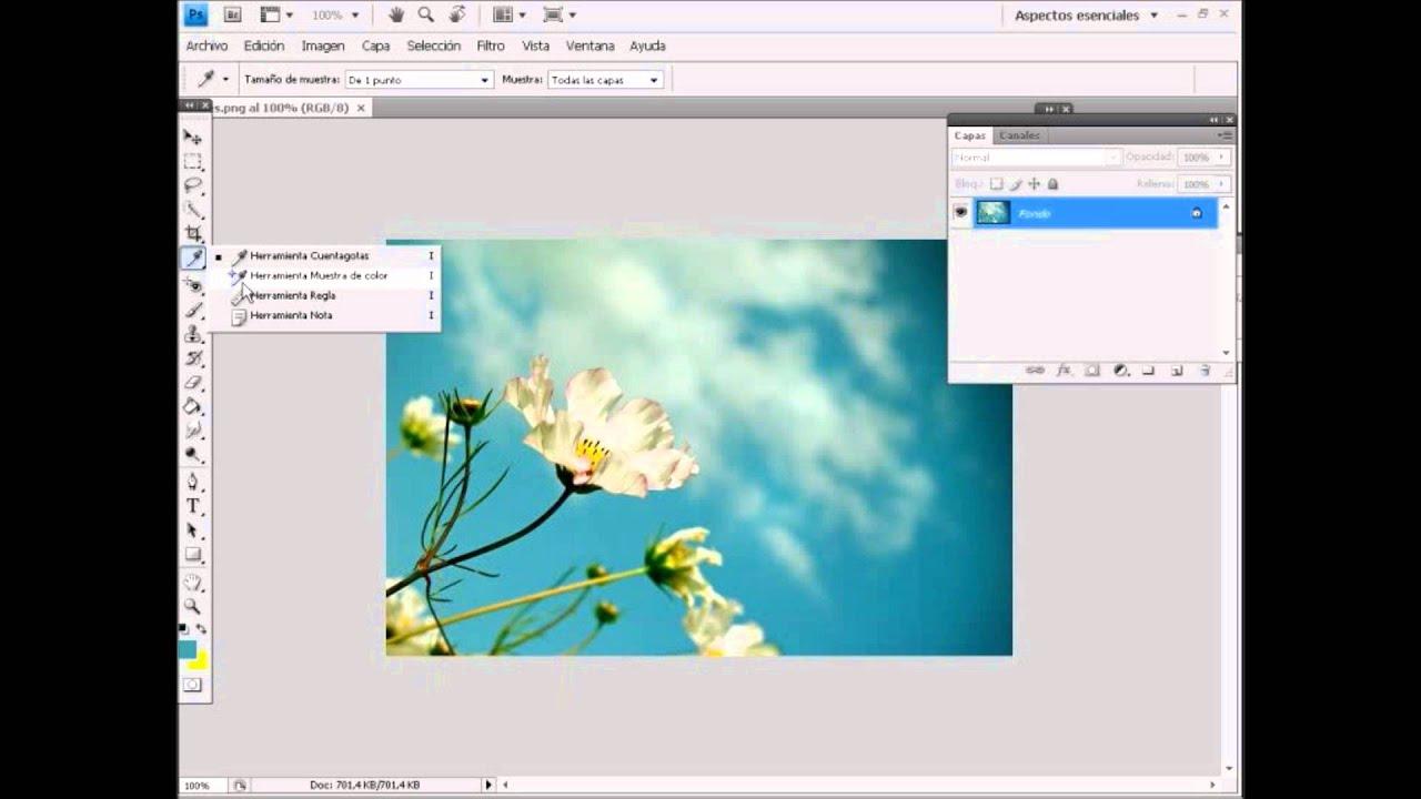 7 3 herramientas de ayuda en photoshop cuentagotas - Herramientas de photoshop ...