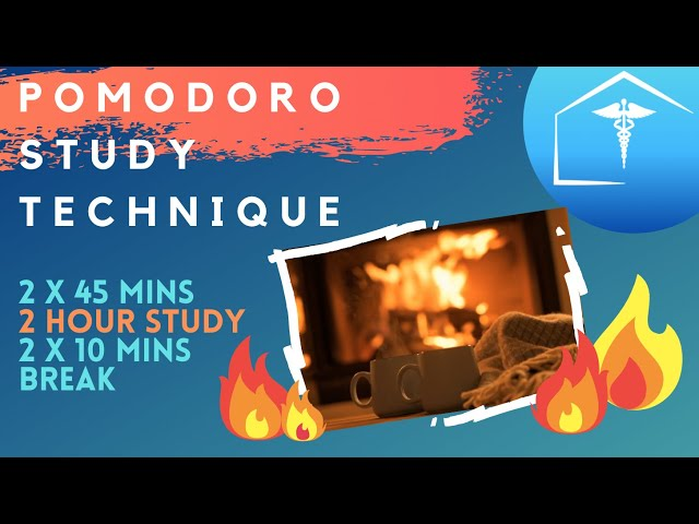Live Fireplace Hd Pomodoro Technique : 45 Min Timer &  10 Min Breaks For Productive Focus & Success