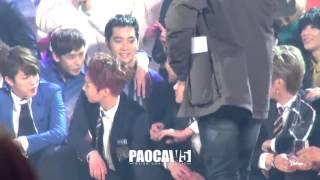 [Fancam] 131227 KBS Gayo Daechukje - Taking photo (EXO Kris focus)