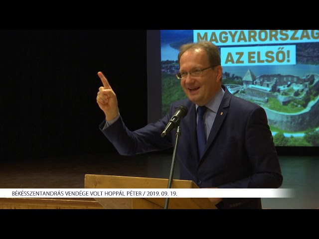 Dr. Hoppál Péter Békésszentandráson (2019. 09. 19.)