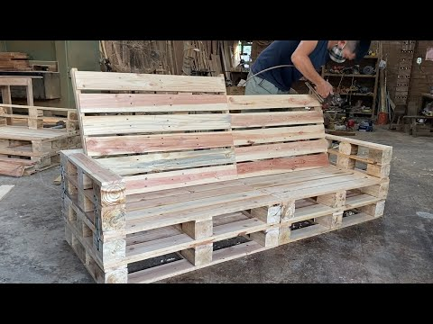 amazing-ideas-woodworking-diy-for-beginners---how-to-build-a-outdoor-bench-from-pallets-step-by-step
