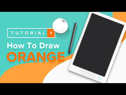 How To Draw an Orange with myFirst Sketch Book EASY Steps by Steps For Kids