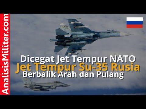 Wow! Dicegat Jet Tempur NATO, Pesawat Tempur Sukhoi Su-35 Rusia Menghindar