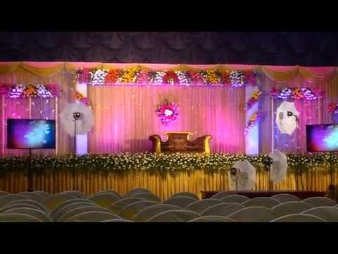 Wedding Reception Stage Decoration YouTube
