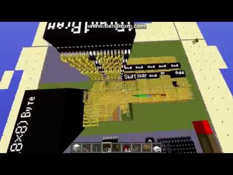 Integrated Circuit CPU in MINECRAFT!