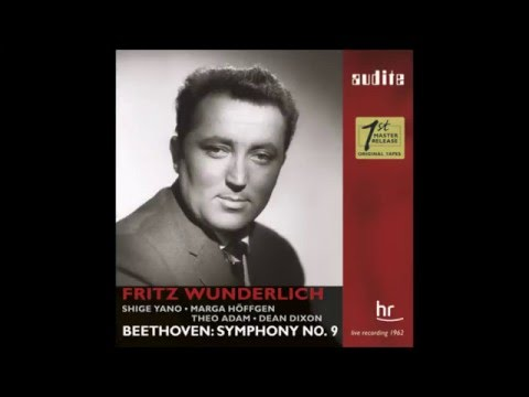 """Fritz Wunderlich in """"Symphony No 9"""" Beethoven"""