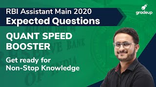 RBI Assistant 2020: Most Expected Question Paper of Quant