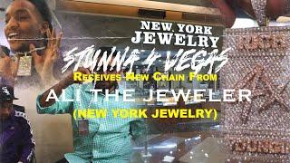 Stunna 4 Vegas Receives New Chain From Ali The Jeweler (New York Jewelry)