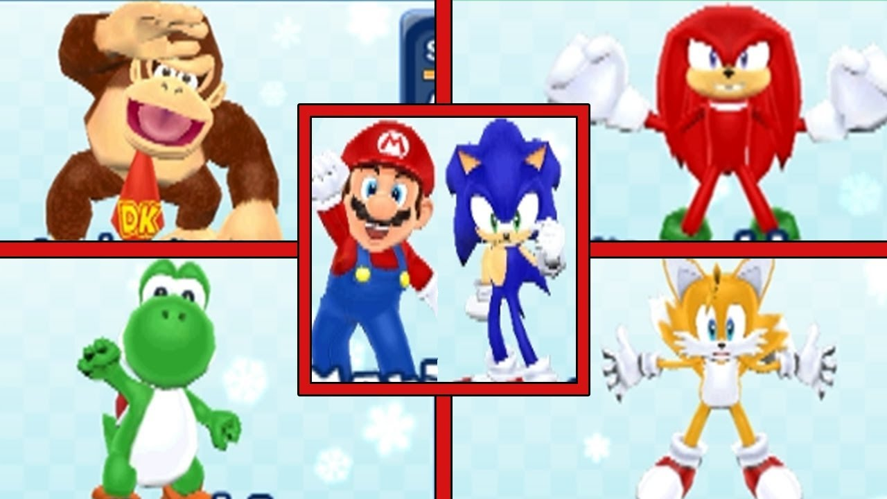 Mario And Sonic At The Pyeongchang 2020 Olympic Winter Games.Mario Sonic At The Olympic Winter Games All Characters All Victories Gold Medal Celebrations