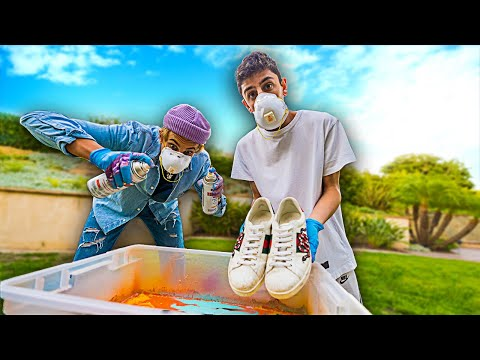 I Hydro Dipped my Gucci Shoes.. (ft. MARKO) **GIVEAWAY**