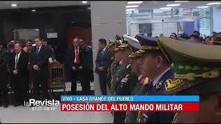 Morales posesionó al nuevo alto mando militar en la 'Casa Grande del Pueblo'