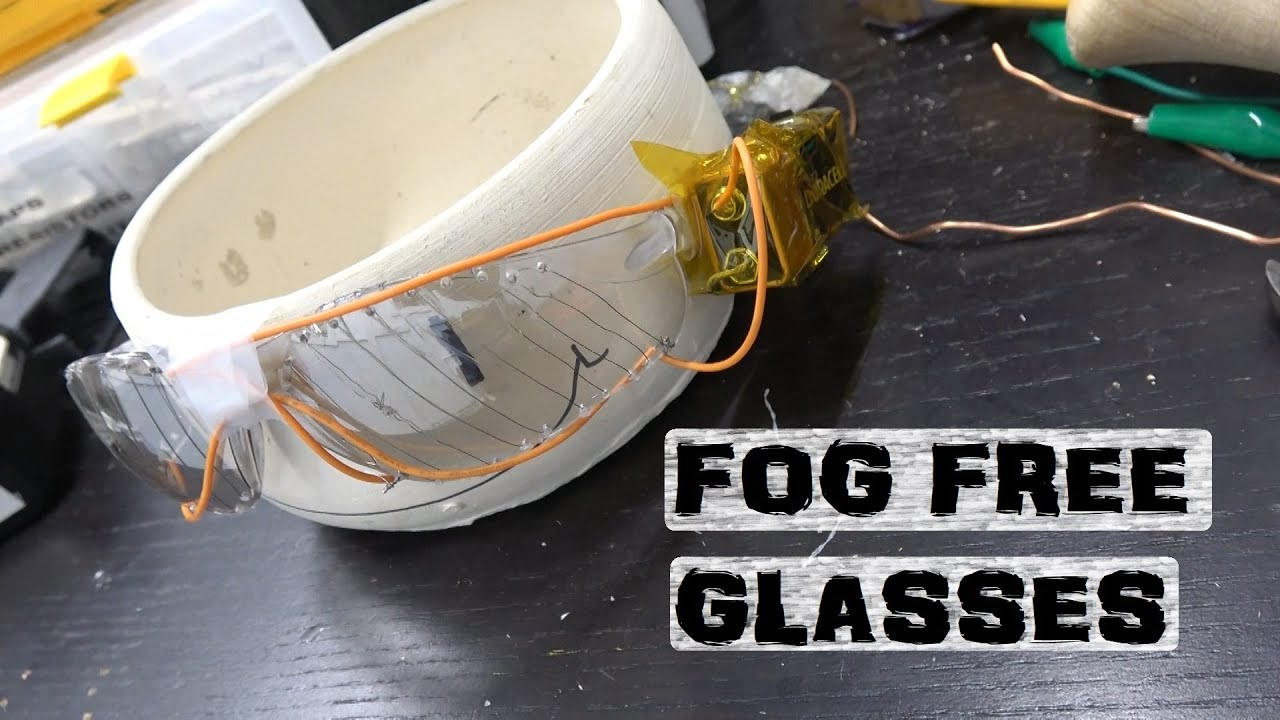 Invention: goggles w/ electric defrost - download from YouTube for free
