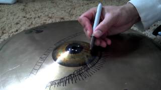 How to draw an eye on a Cymbal diy
