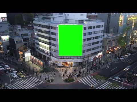 Green screen large billboard