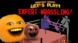 Annoying Orange Let's Play EXPERT WRASSLING! w/ Midget Apple