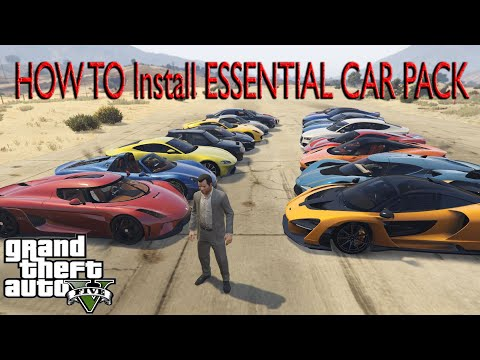GTA5: How To Install Essential CAR PACK (170 REPLACED CARS) (v 1868.1)